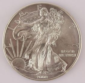 2008 UNITED STATES SILVER EAGLE 1 OZ. .999 FINE