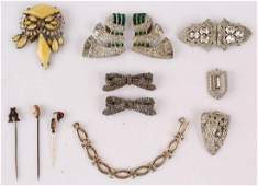 MIXED LADIES COSTUME JEWELRY BROOCHES PINS ETC.