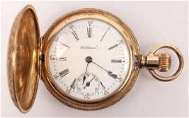 LADIES WALTHAM GOLD FILLED POCKET WATCH
