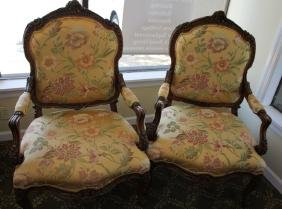 PAIR OF  VICTORIAN SITTING CHAIRS
