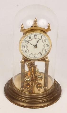 20TH CENTURY BRASS MANTLE CLOCK FOR REPAIR