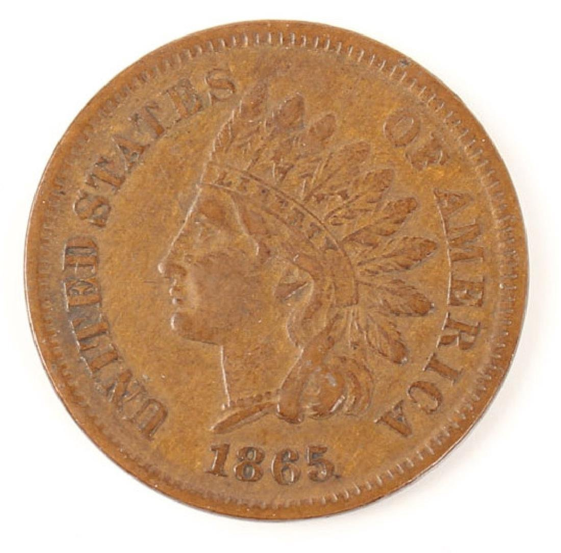 1865 UNITED STATES INDIAN HEAD PENNY