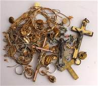 LADIES MOSTLY GOLD TONE COSTUME JEWELRY