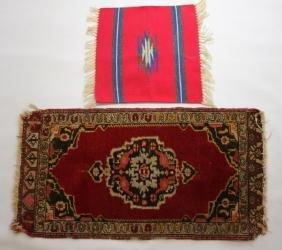 2 MINIATURE RUGS--ZAPOTEC & TURKISH STYLE