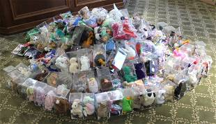 200+ TY BEANIE BABIES - LARGE LIFELONG COLLECTION