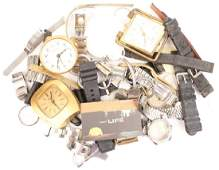 MIXED MENS  LADIES WRISTWATCH PARTS MOVEMENTS ETC