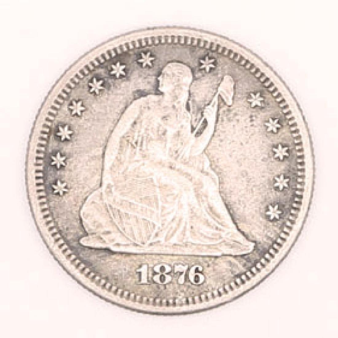 1876 SAN FRANCISCO SEATED LIBERTY QUARTER