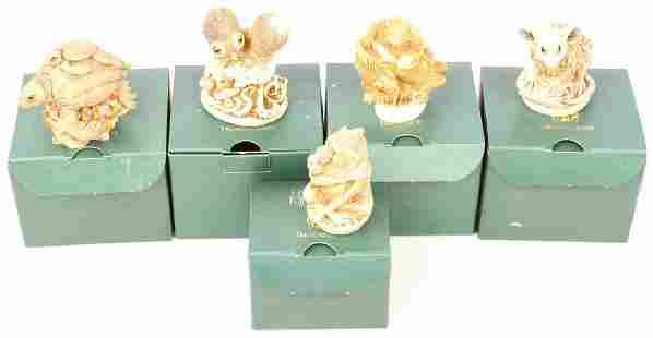 5 HARMONY KINGDOM TREASURE JESTS BOX FIGURINES