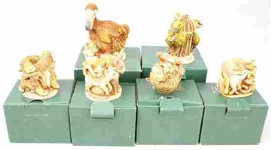 6 HARMONY KINGDOM TRINKET BOX FIGURINES