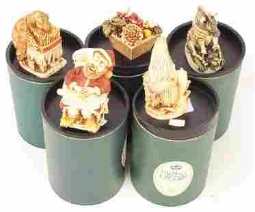 5 HARMONY KINGDOM TRINKET BOX FIGURINES