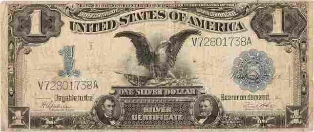 $1.00 BLACK EAGLE SILVER CERTIFICATE 1899 NOTE