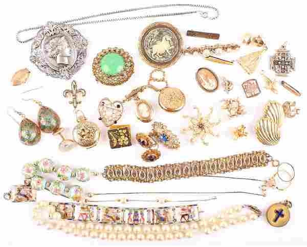 19TH EARLY 20TH CENTURY COSTUME JEWELRY