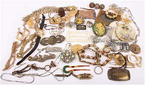 19TH EARLY 20TH CENTURY JEWELRY GOLD FILLED  MORE