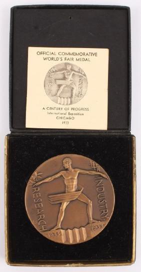 1933 Commemorative Chicago World's Fair Medal