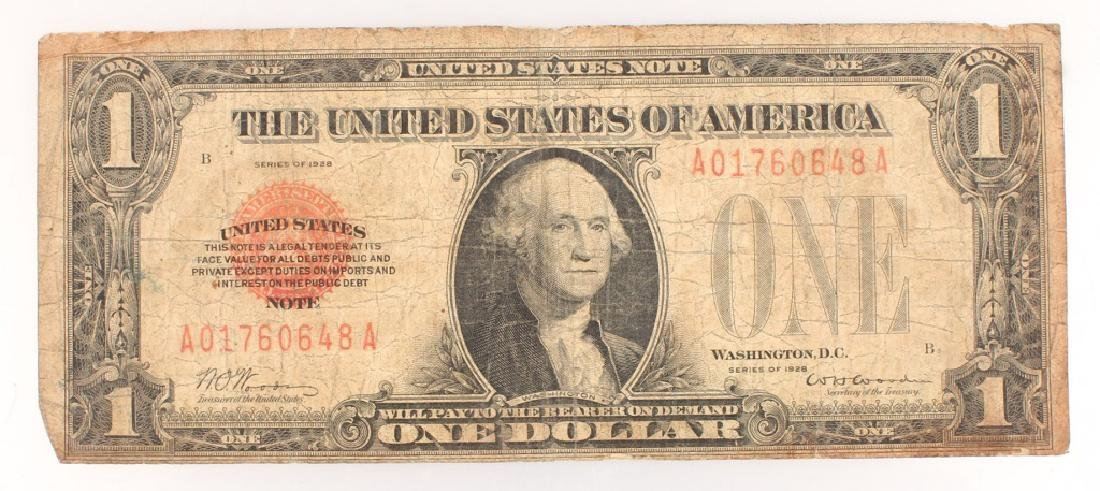 $1.00 WASHINGTON SERIES 1928 RED SEAL NOTE