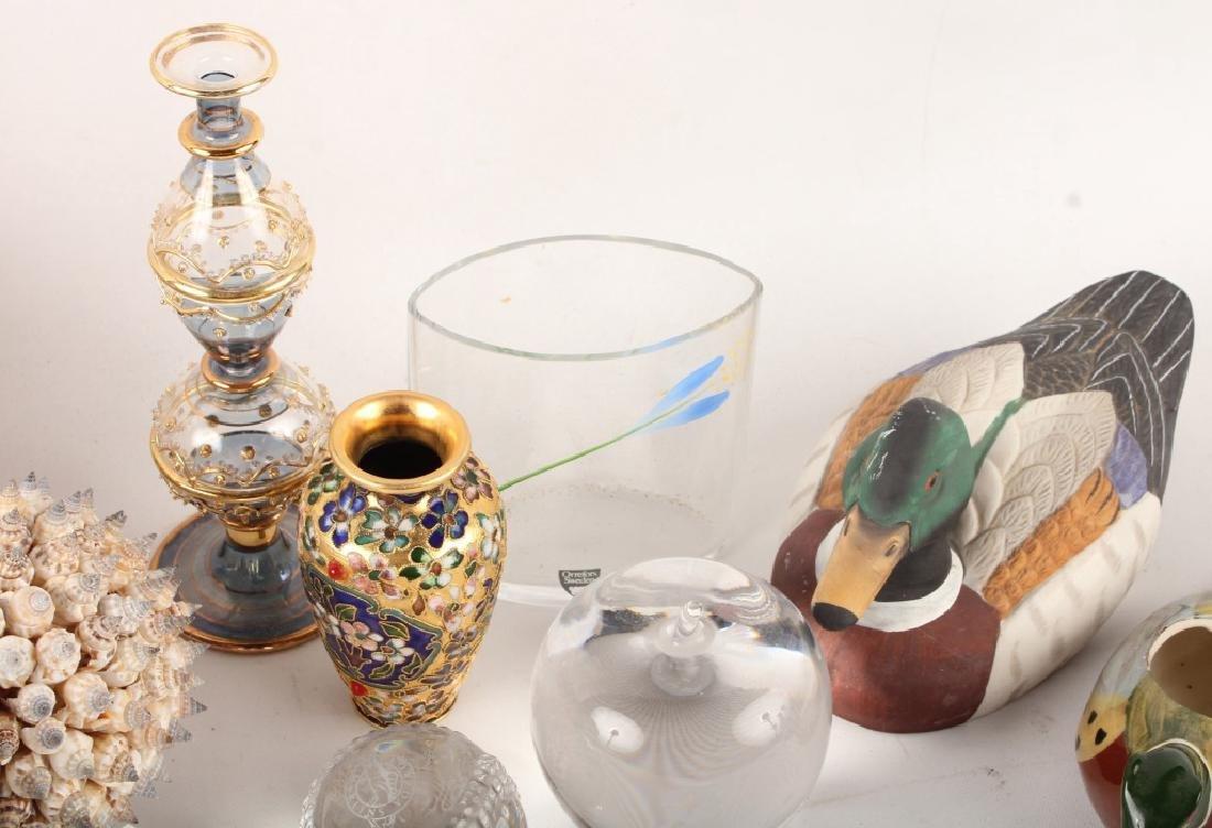 MIXED DECOR ITEMS--SEA SHELLS, GLASS, & MORE - 3