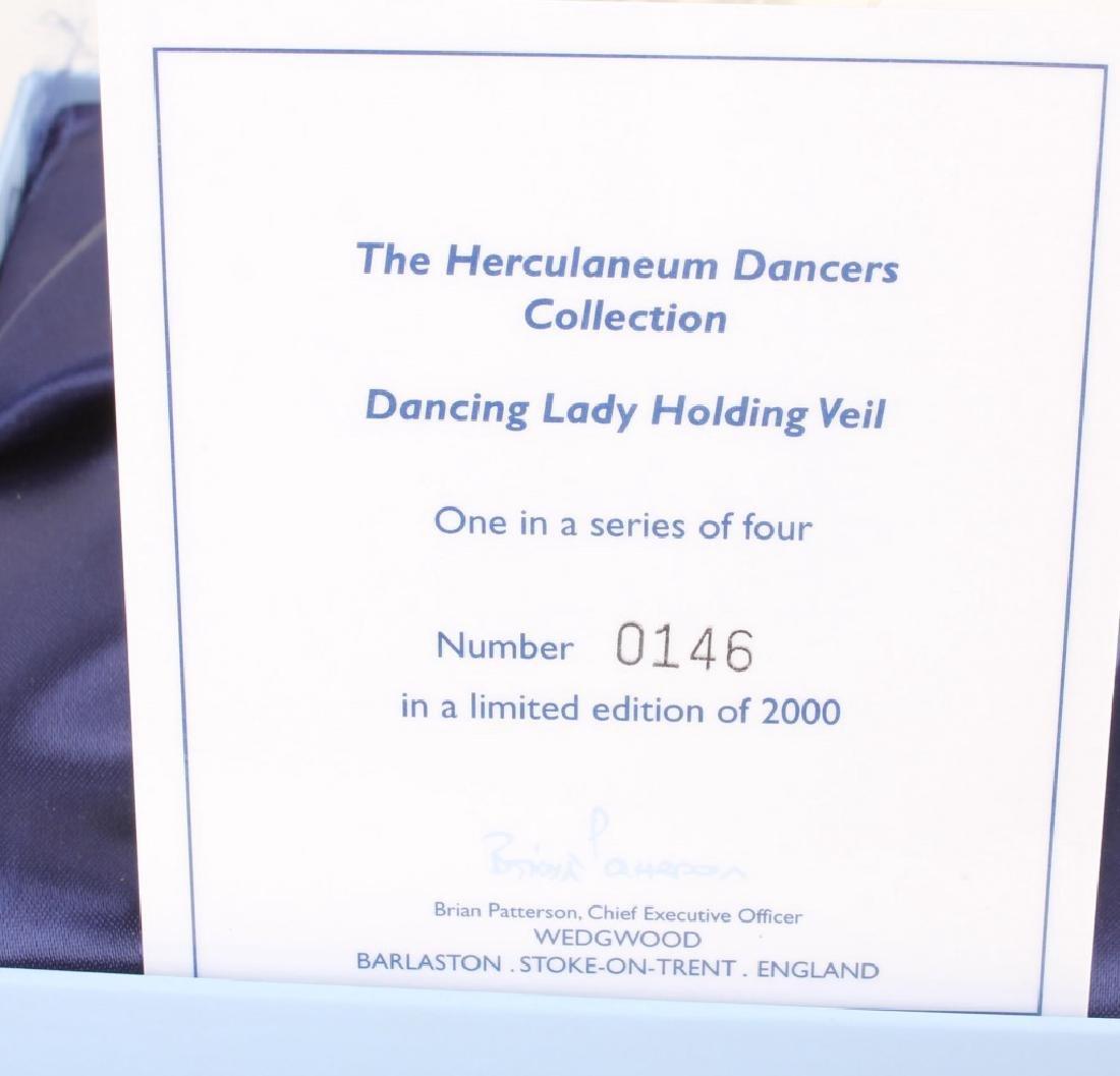 4 PORCELAIN WEDGWOOD HERCULANEUM DANCER FIGURINES - 9