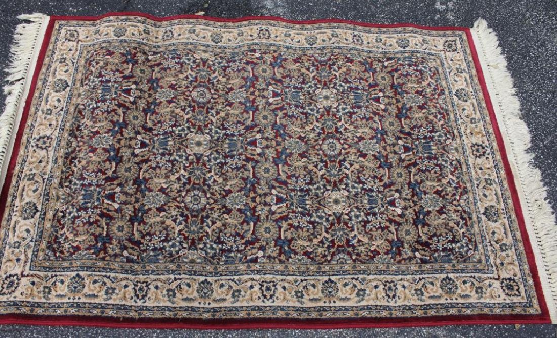 LOT OF 2 MODERN FLORAL AREA RUGS - 2