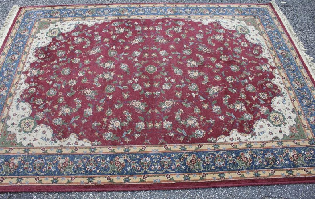 LOT OF 2 MODERN FLORAL AREA RUGS - 3