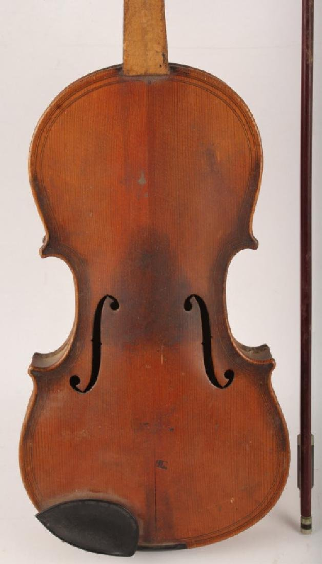 VIOLIN WITH BOW FOR PARTS - 2