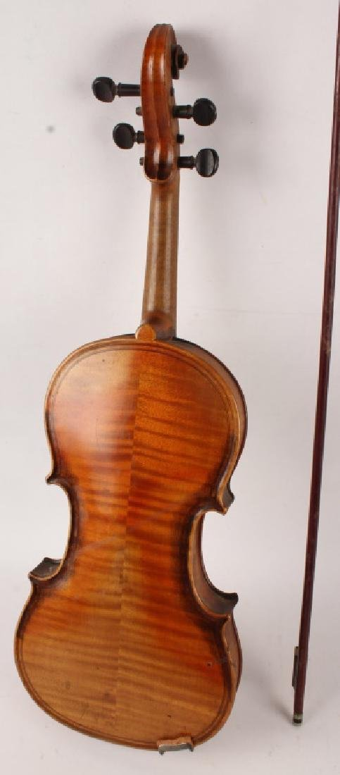 VIOLIN WITH BOW FOR PARTS - 4