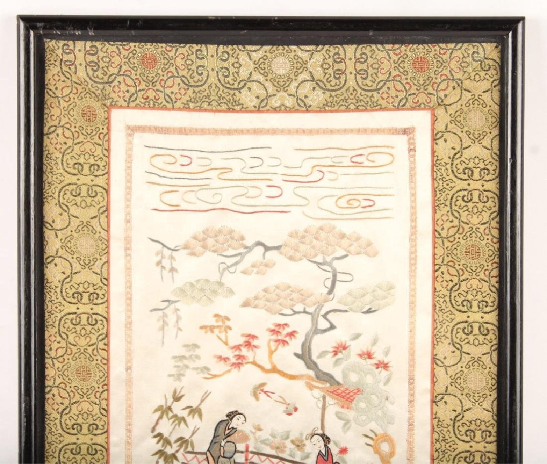 FRAMED CHINESE SILK EMBROIDERY - 2