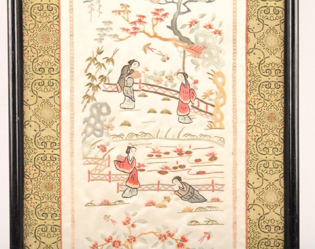 FRAMED CHINESE SILK EMBROIDERY - 3
