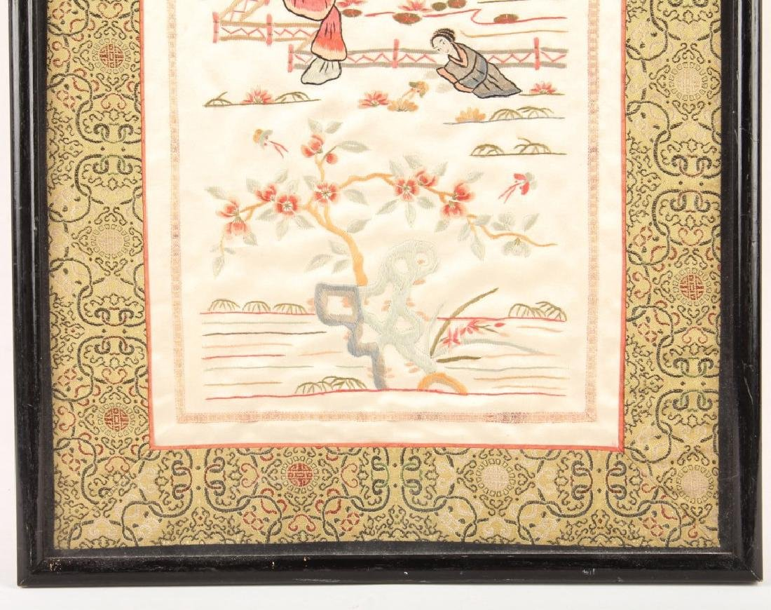 FRAMED CHINESE SILK EMBROIDERY - 4