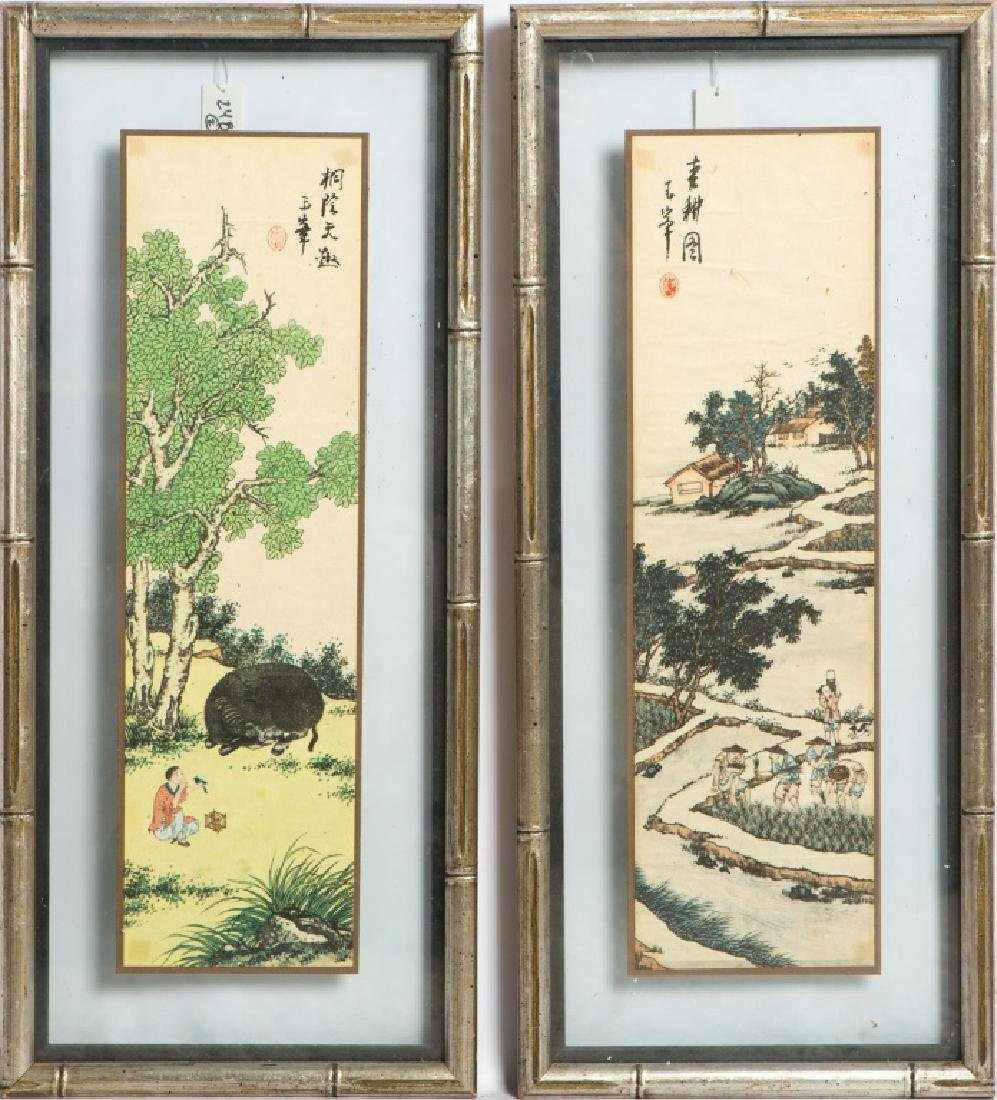 (2) CHINESE RICE PAPER PAINTINGS