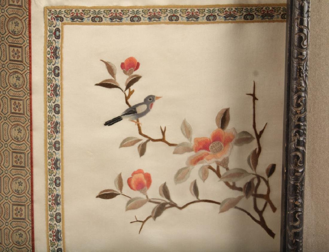 LOT OF 3 CHINESE EMBROIDERIES TO SILK - 4