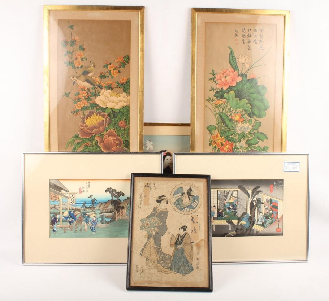 6 PIECES OF MIXED CHINESE ARTWORK