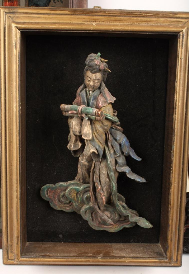 (5) PIECES OF MIXED CHINESE ARTWORK - 3