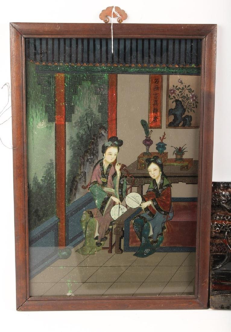 (5) PIECES OF MIXED CHINESE ARTWORK - 6