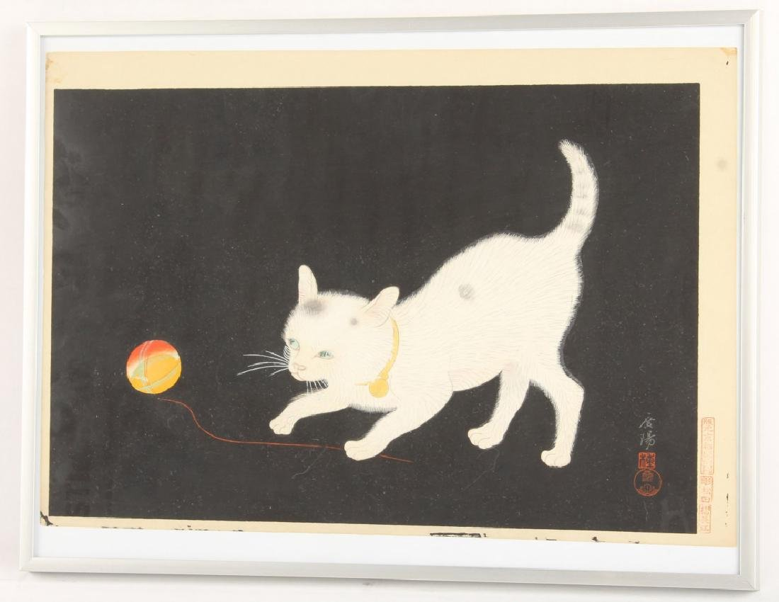 JAPANESE WOODBLOCK PRINT OF A CAT