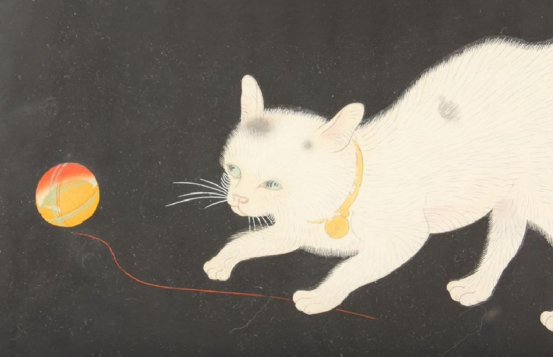 JAPANESE WOODBLOCK PRINT OF A CAT - 2