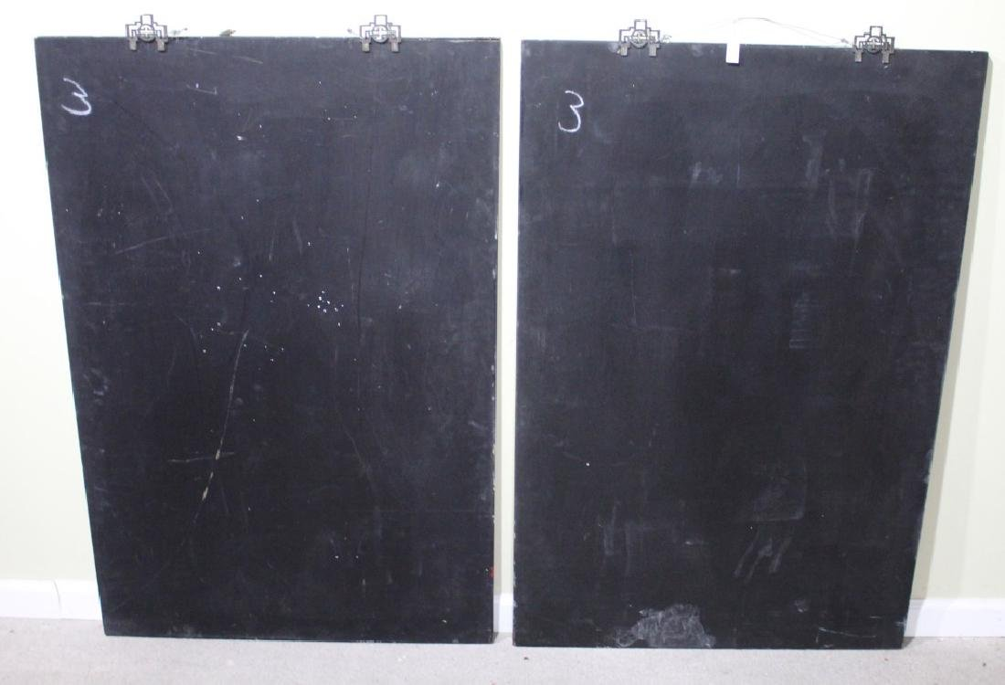 PAIR OF LARGE CHINESE LACQUER WALL HANGINGS - 4