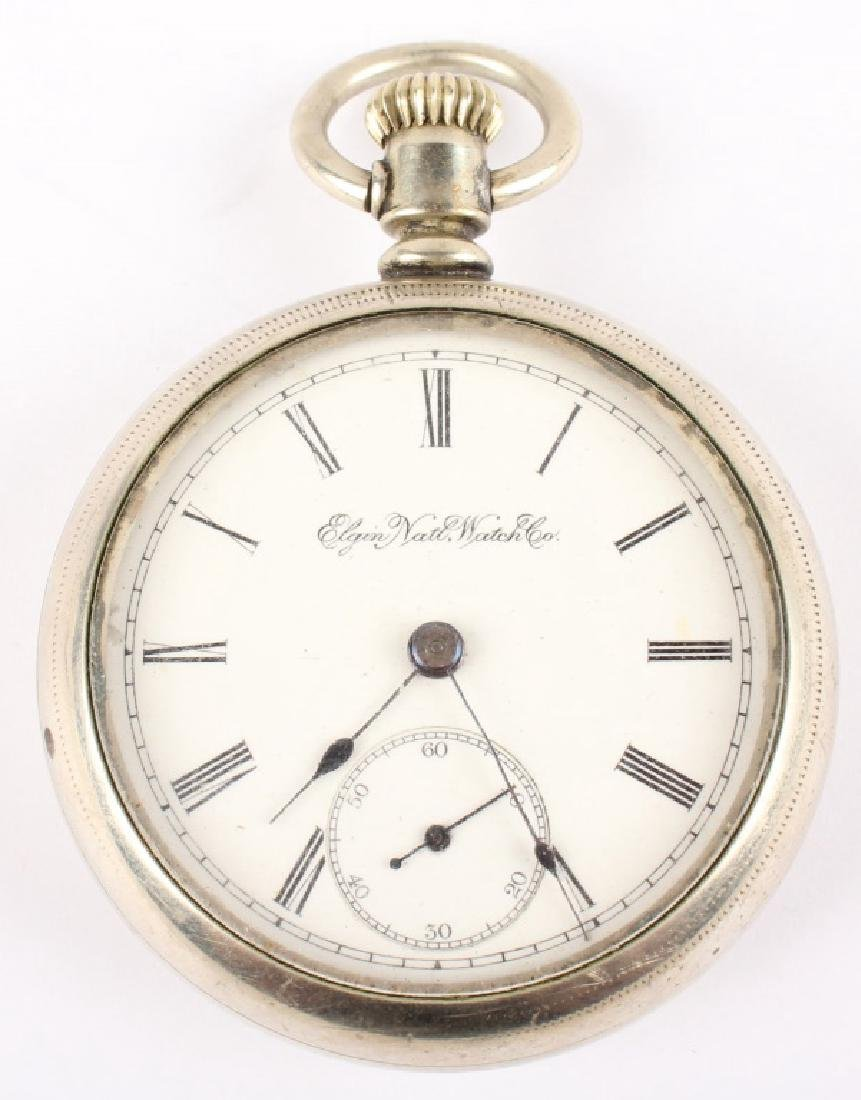 ELGIN NAT'L WATCH CO. SILVER PLATED POCKET WATCH