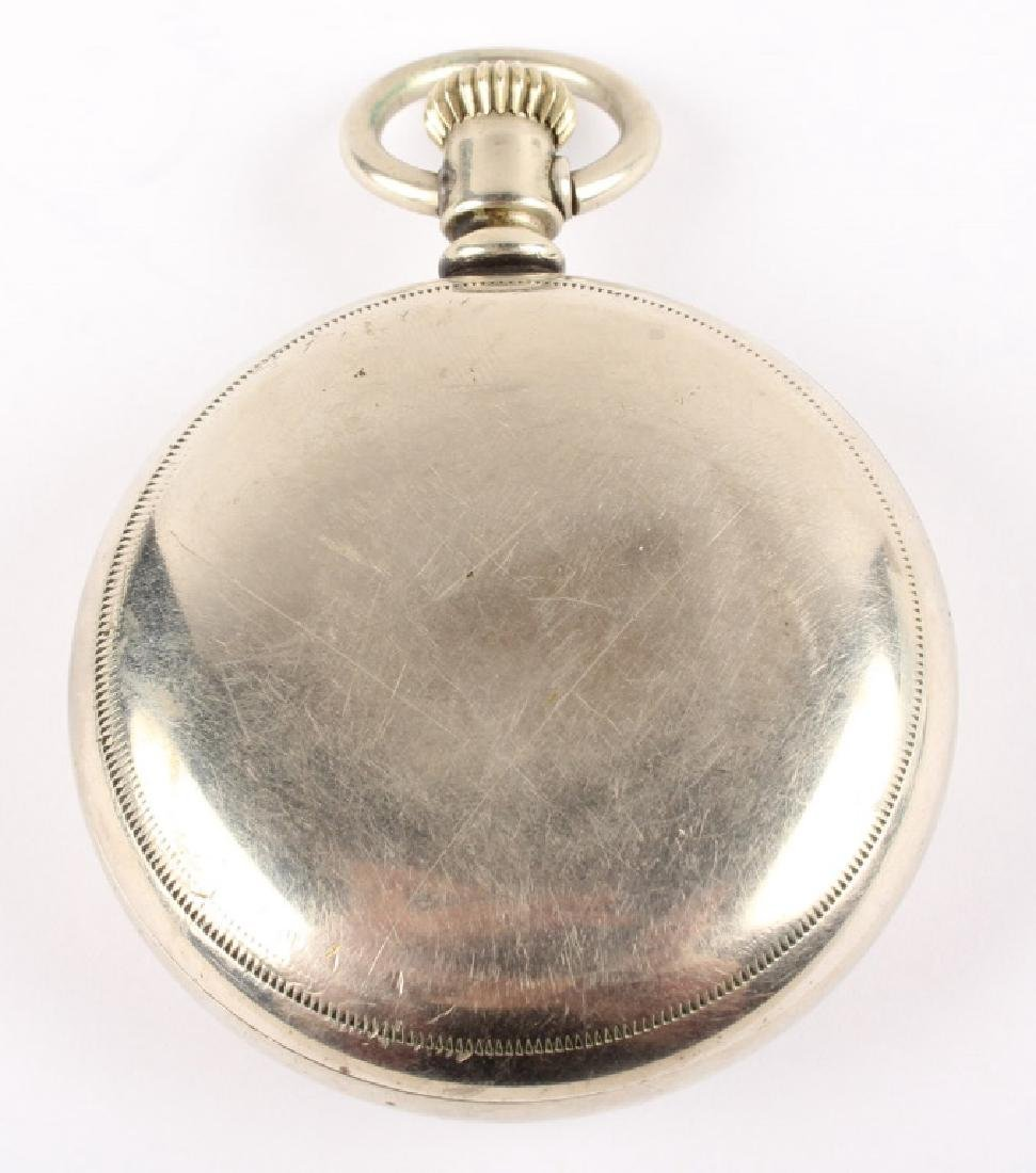 ELGIN NAT'L WATCH CO. SILVER PLATED POCKET WATCH - 4