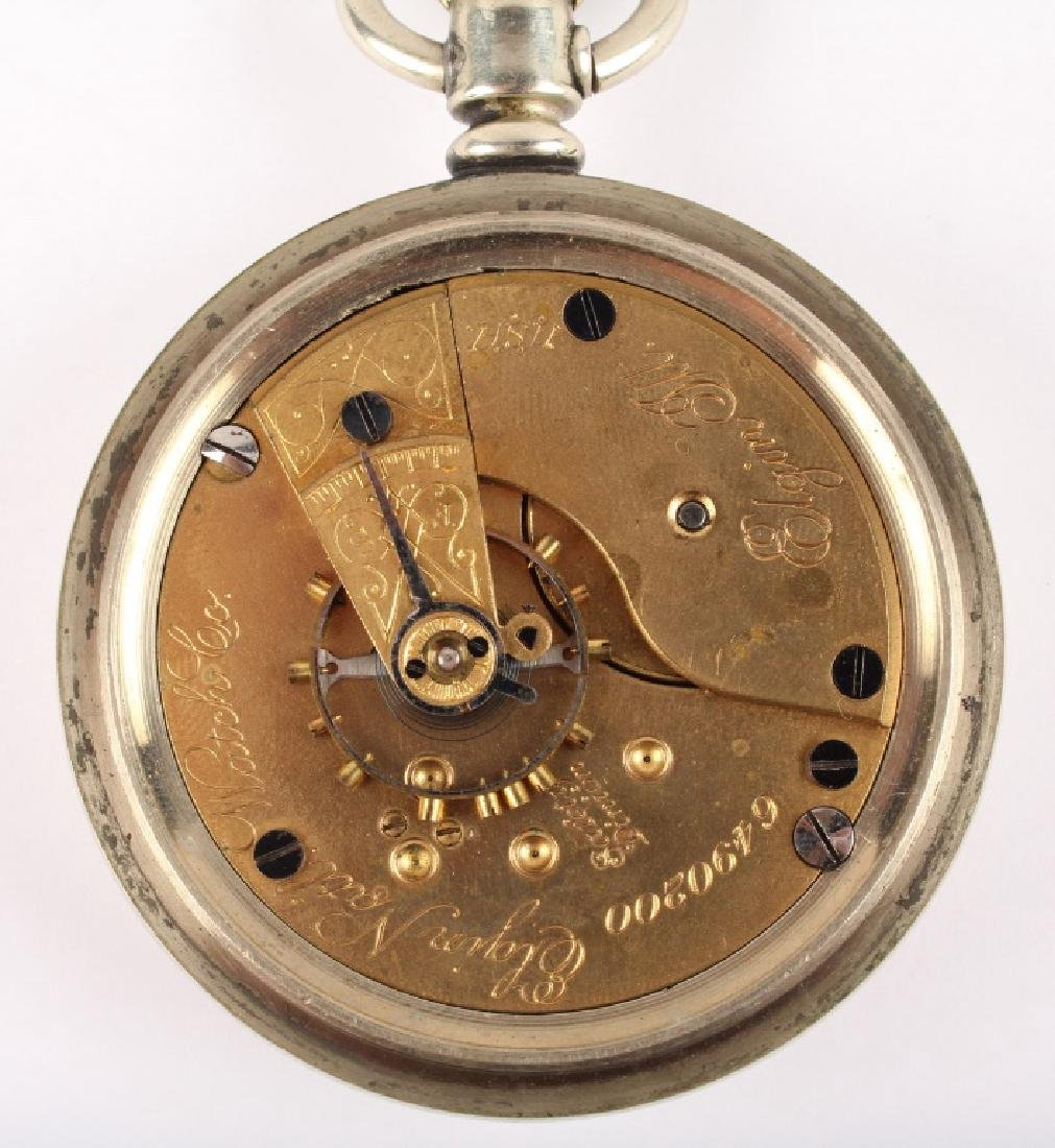 ELGIN NAT'L WATCH CO. SILVER PLATED POCKET WATCH - 5