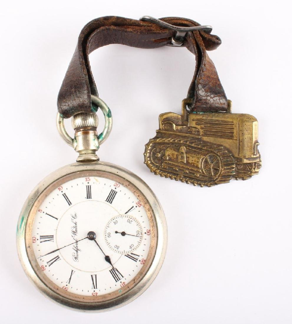 ROCKFORD WATCH CO. SILVER PLATED POCKET WATCH