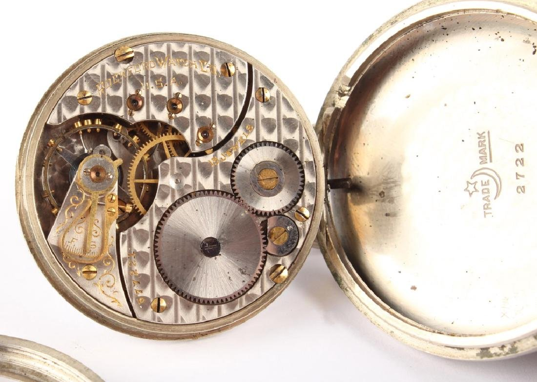 ROCKFORD WATCH CO. SILVER PLATED POCKET WATCH - 5