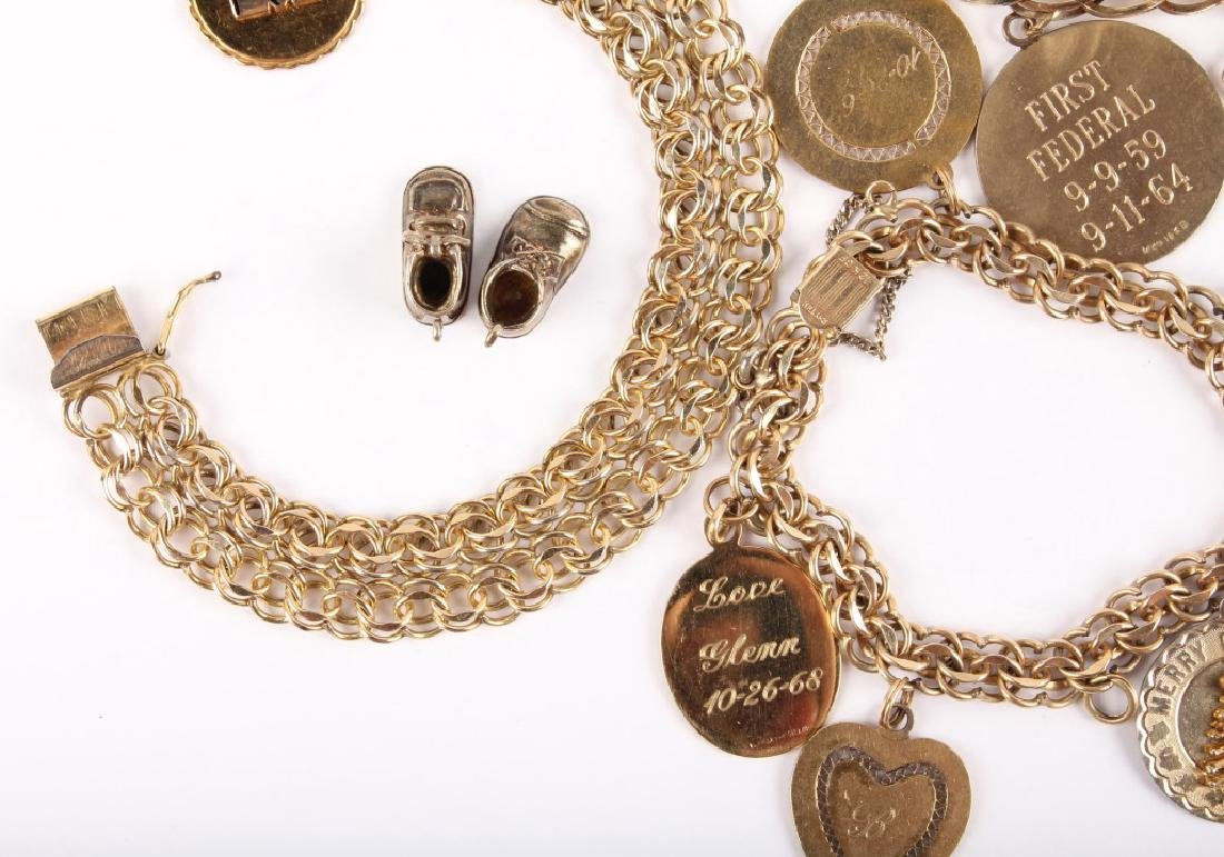 MIXED GOLD FILLED CHARMS AND BRACELET - 3