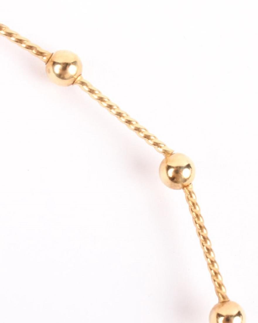 LADIES 14K YELLOW GOLD BALL NECKLACE - 2