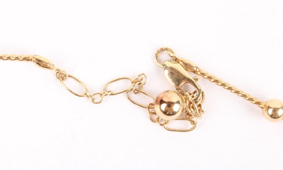 LADIES 14K YELLOW GOLD BALL NECKLACE - 3