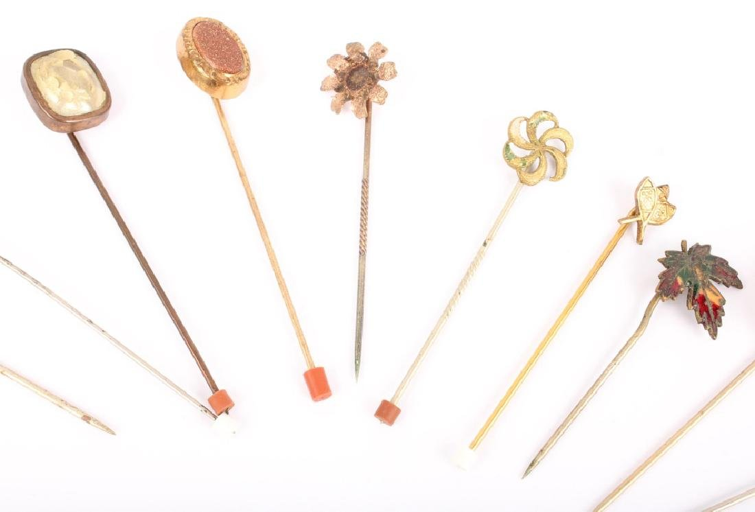 MIXED LOT OF 20TH CENTURY HAT STICK PINS - 3