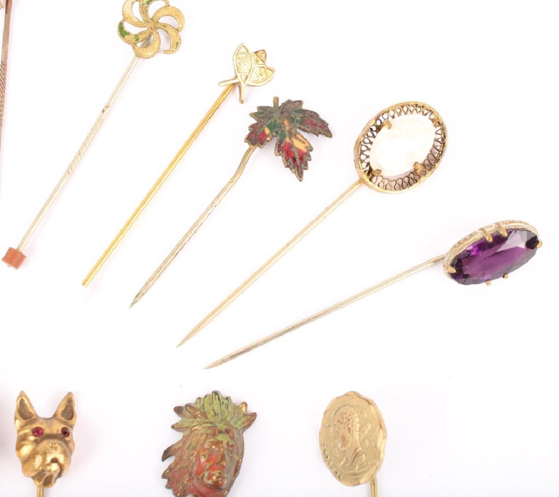 MIXED LOT OF 20TH CENTURY HAT STICK PINS - 4