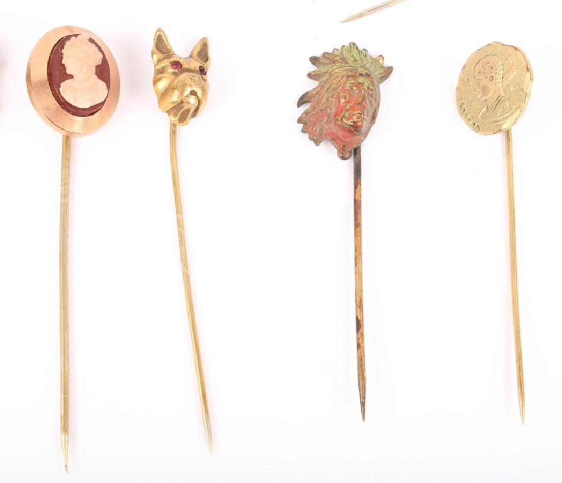 MIXED LOT OF 20TH CENTURY HAT STICK PINS - 5