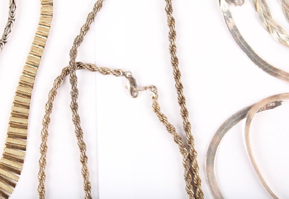 MIXED STERLING SILVER CHAINS AND BRACELETS - 4