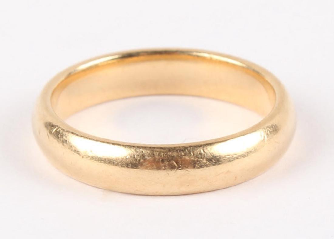 14K YELLOW GOLD WEDDING BAND - 2