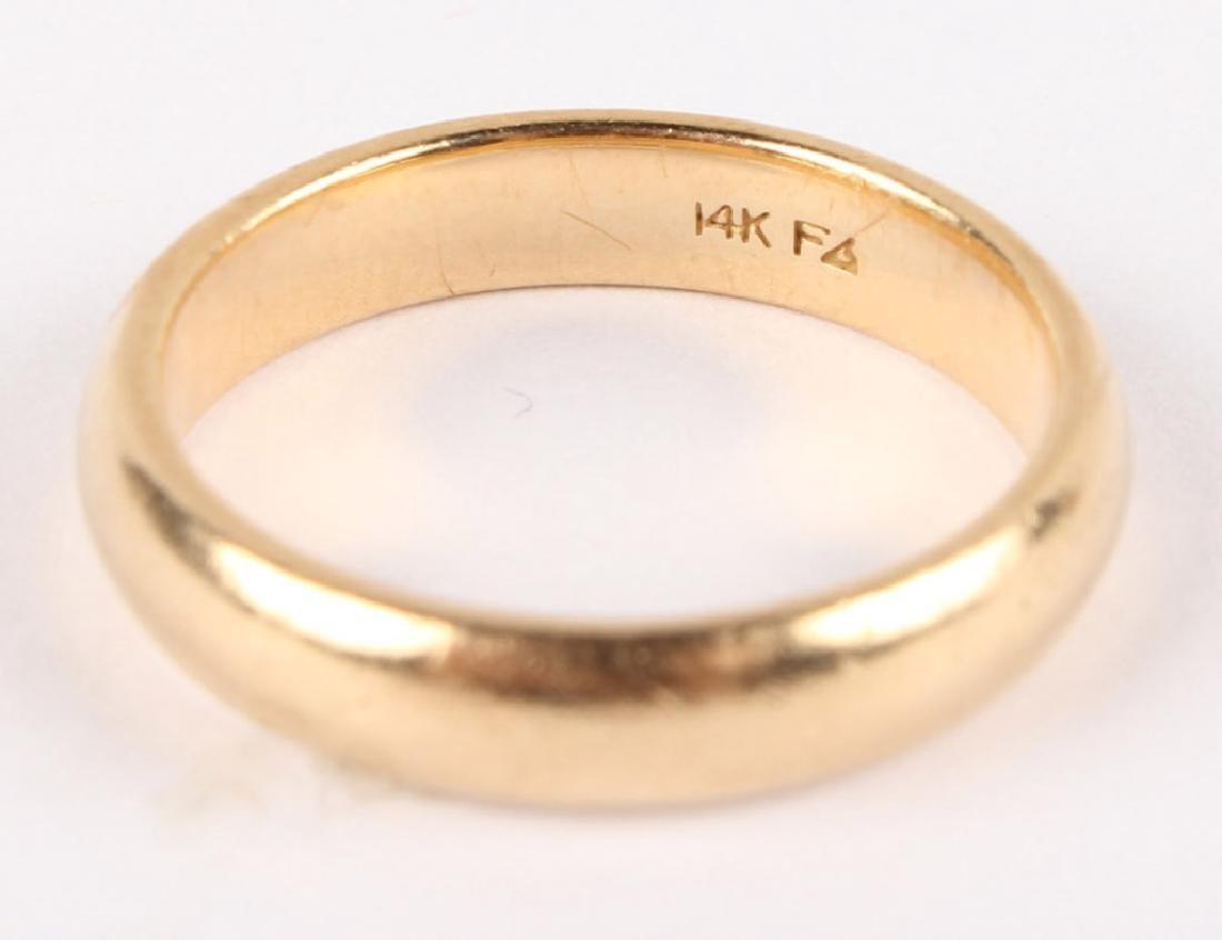 14K YELLOW GOLD WEDDING BAND - 3